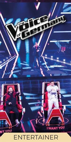 Der Entertainer und Musiker Manuel Lojo bei The Voice of Germany 2020